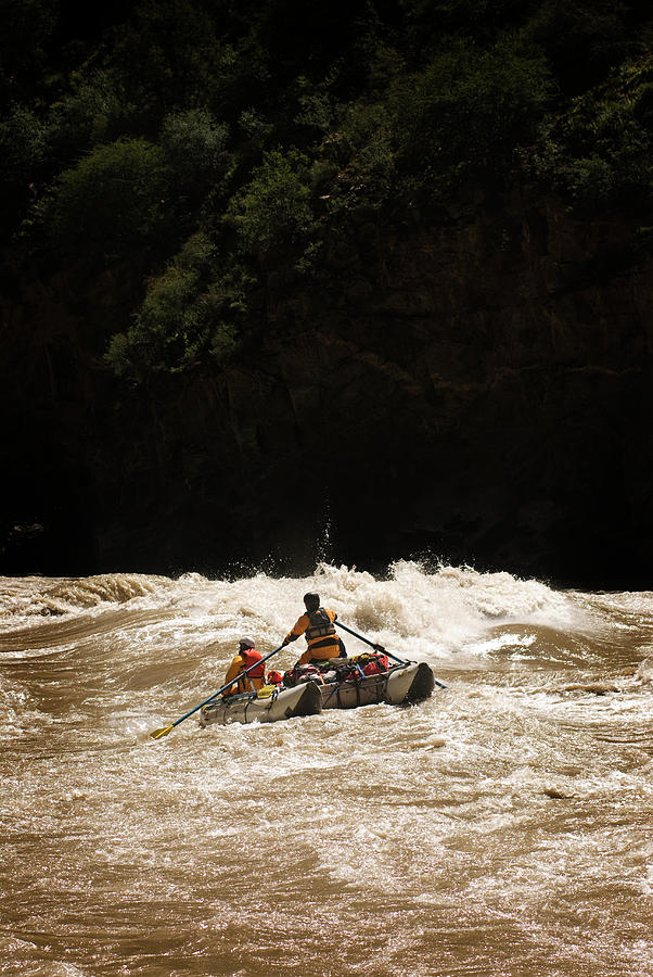 Adventure Photograph - Rubber Raft Running Rapids by Kyle George