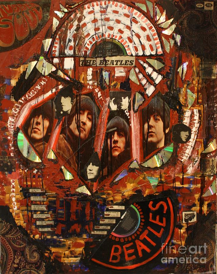 The Beatles Mixed Media - Rubber Soul by Michael Kulick