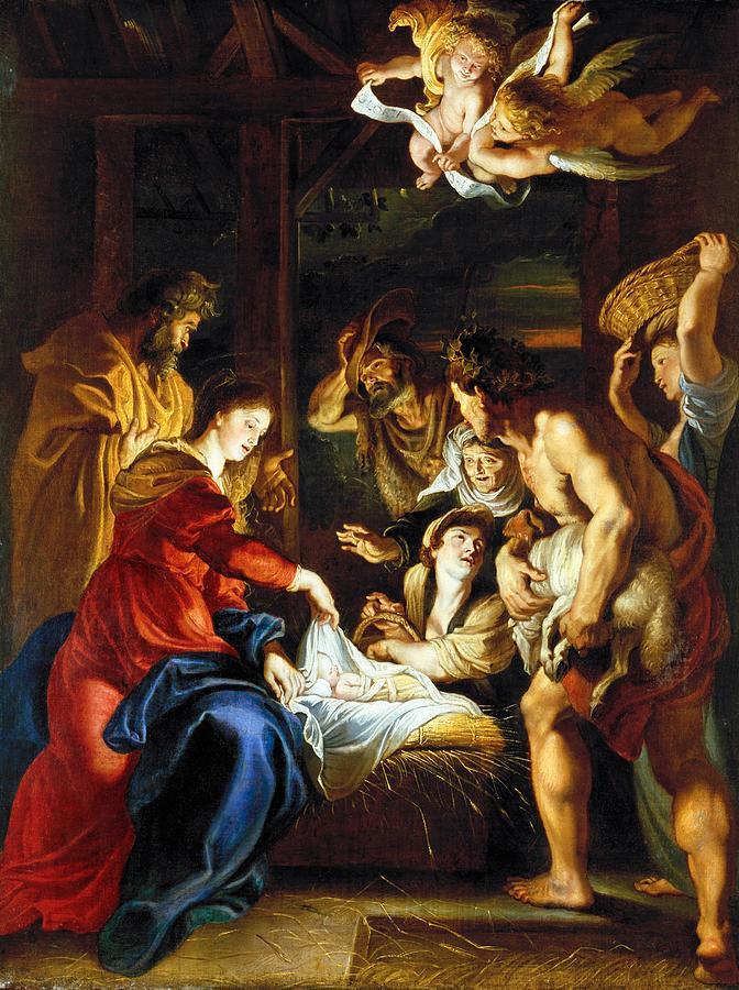 1608 Photograph - Rubens Adoration by Granger