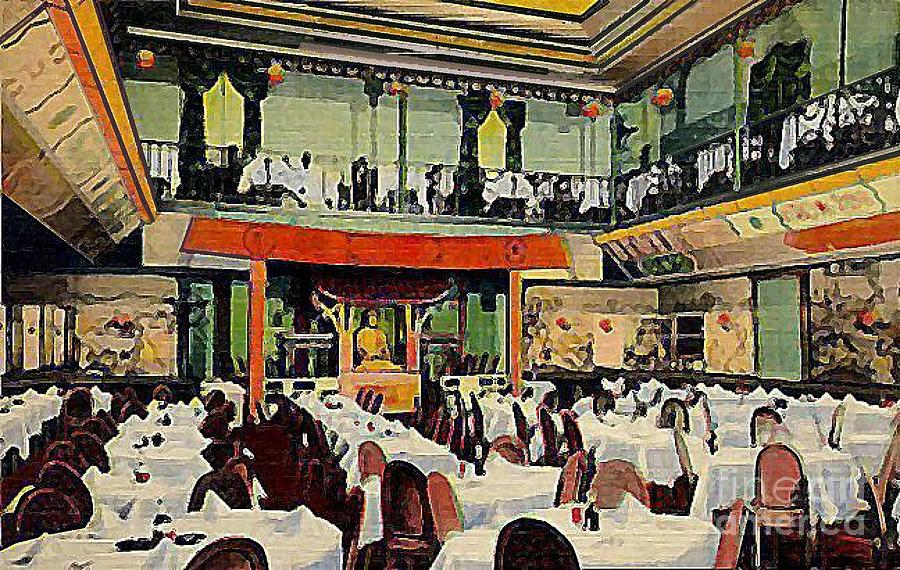 Restaurants Painting - Ruby Foo Den Chinese Restaurant In New York City by Dwight Goss