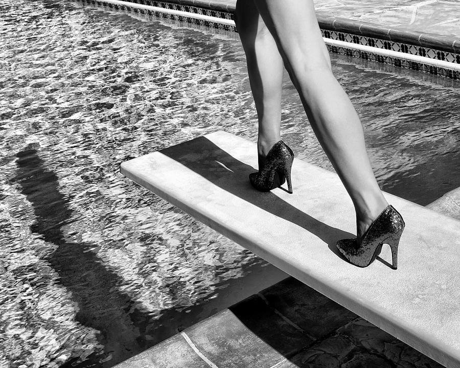 Palm Springs Photograph - RUBY HEELS BW Palm Springs by William Dey