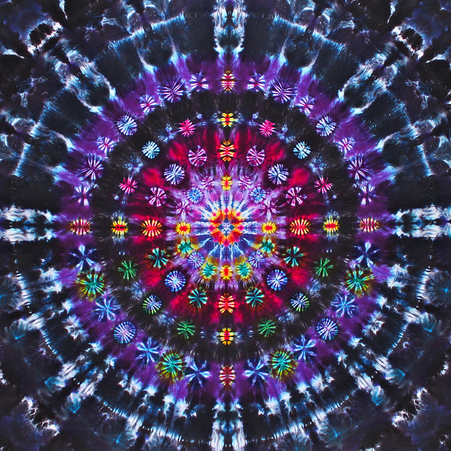 Tie Dye Tapestry - Textile - Ruby Quasar by Courtenay Pollock