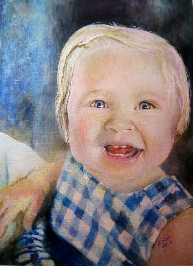 Toddler Painting - Ruby Tuesday  by Siobhan Lewis