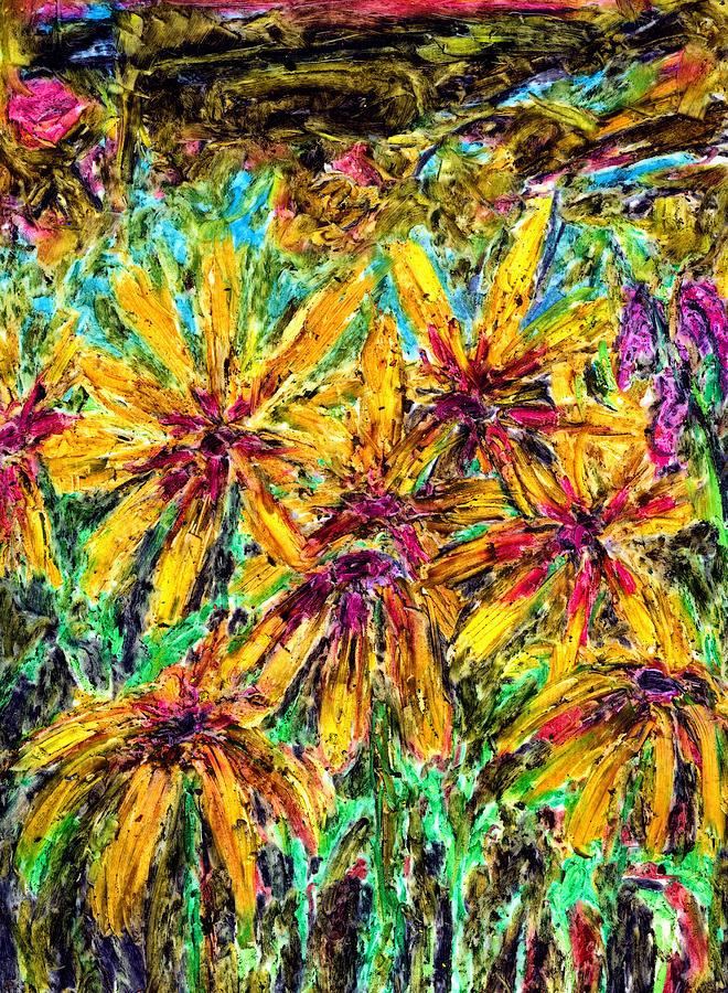 Nature Pastel - Rudbeckia. The Feeling Of Autumn by Yuri Lushnichenko