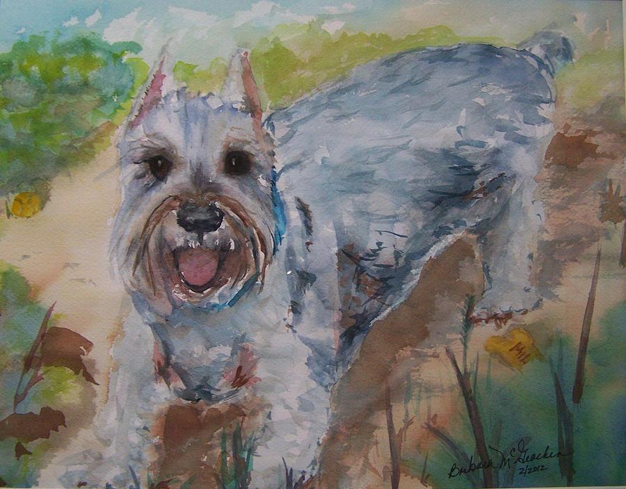 Canine Painting - Rudy by Barbara McGeachen