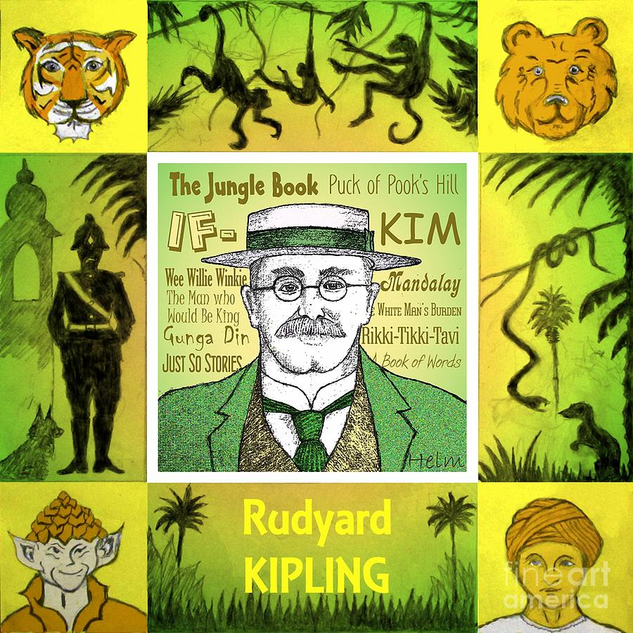 Kipling Drawing - Rudyard Kipling by Paul Helm