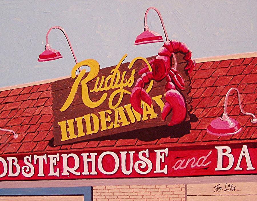 Sacramento Painting - Rudys Hideaway by Paul Guyer
