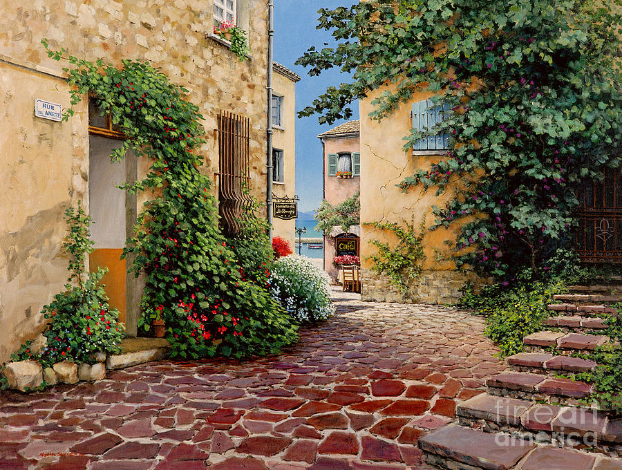 French Village Painting - Rue Anette by Michael Swanson