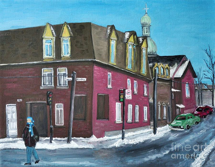 Pointe St. Charles Painting - Rue Centre Pte St Charles by Reb Frost
