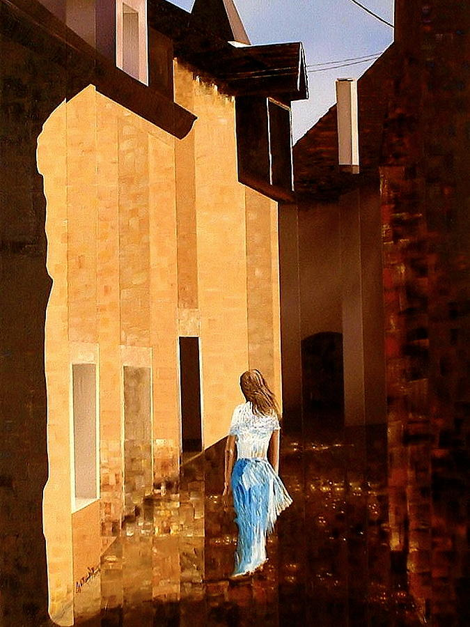 European Painting - Rue De Lart by Laurend Doumba