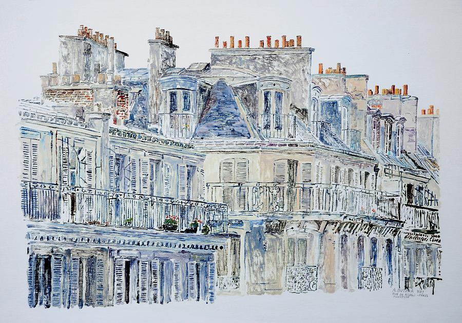 French Painting - Rue Du Rivoli Paris by Anthony Butera