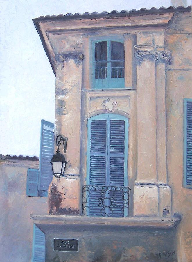 Aix-en-provence Painting - Rue Espariat Aix-en-provence by Jan Matson
