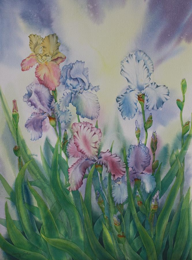 Iris Painting - Ruffled Effect by Heather Gallup