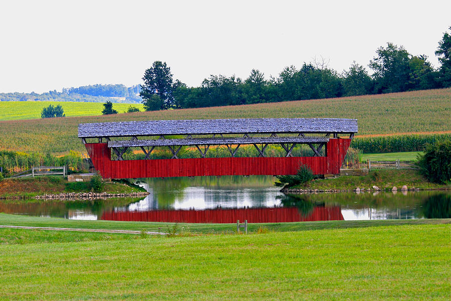 Architecture Photograph - Ruffner Covered Bridge by Jack R Perry