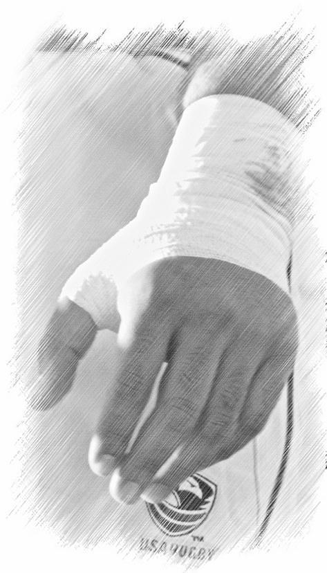 Hands Digital Art - Rugby Hands by Evan Premer