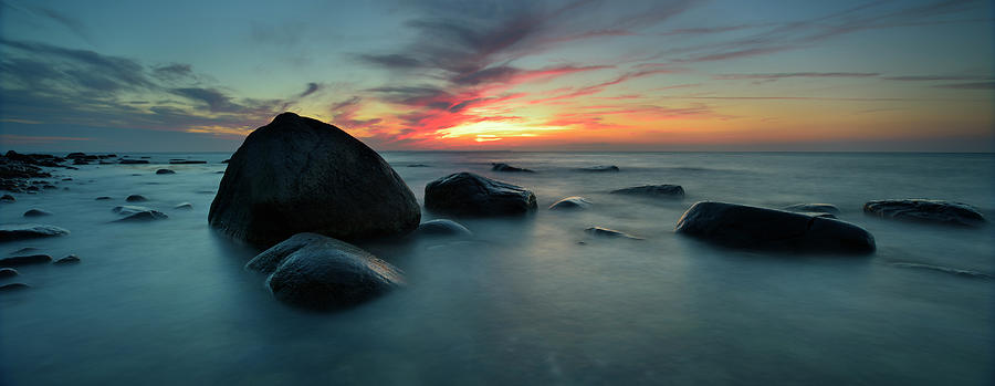 Rugen Island Seascape With Boulders Photograph by Avtg