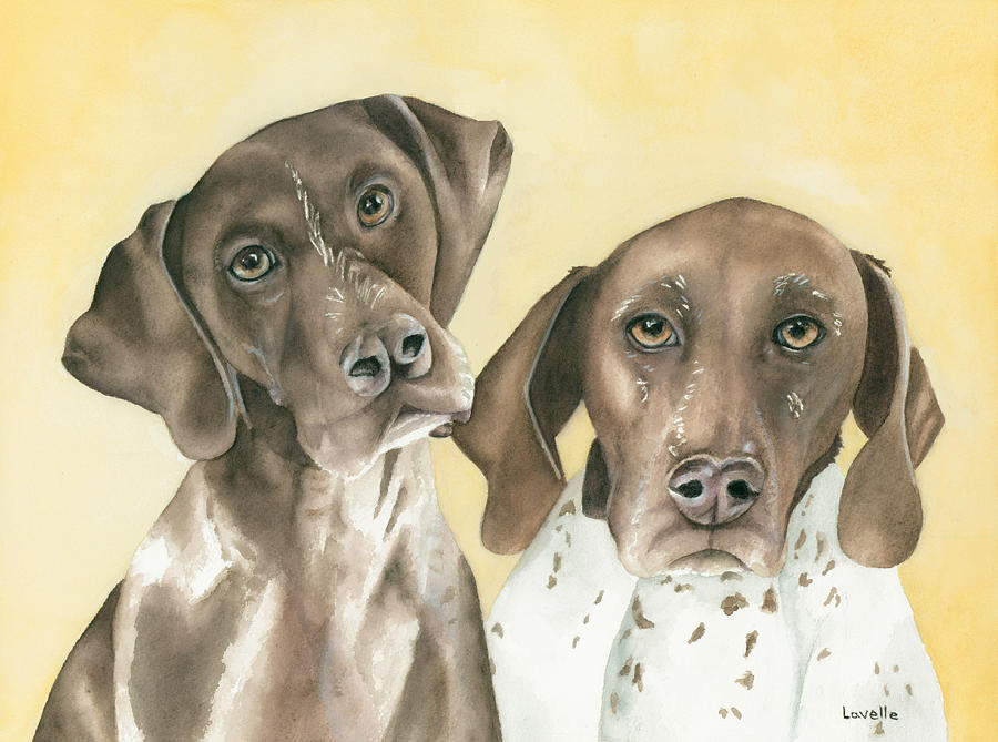 Animals Painting - Ruger And Daisey   by Kimberly Lavelle