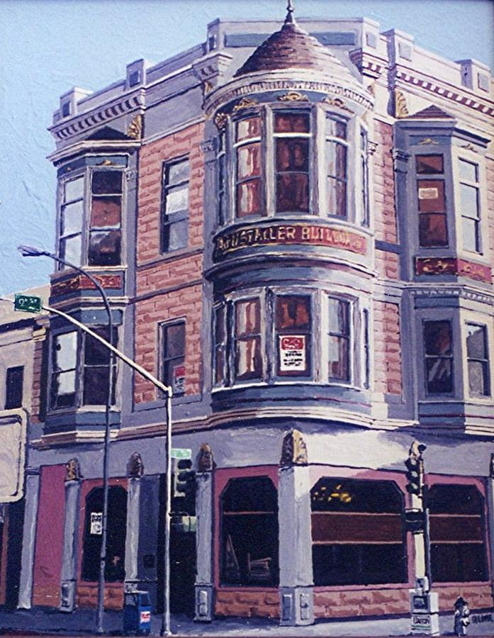 Sacramento Painting - Ruhstaller Building by Paul Guyer