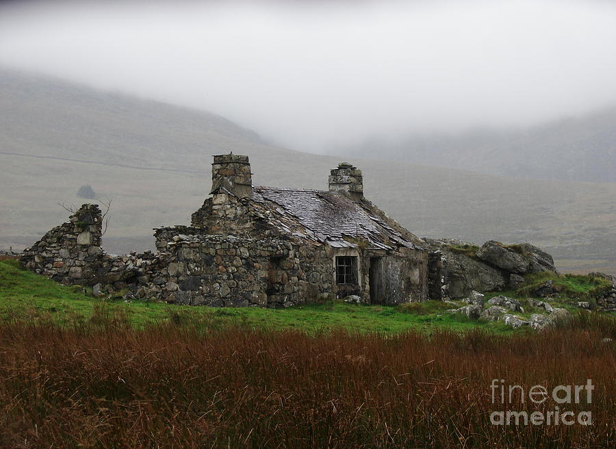 Ruin Photograph - Ruined Cottage Snowdonia by Nicola Butt
