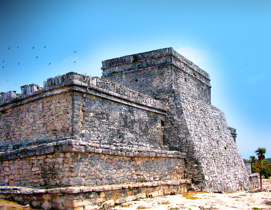 Tulum Mixed Media - Ruins Of Tulum Mexico by Design Turnpike