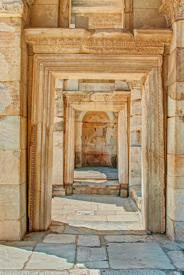 Ruins Or Ancient Stone Corridor With Photograph by Aygulsarvarova