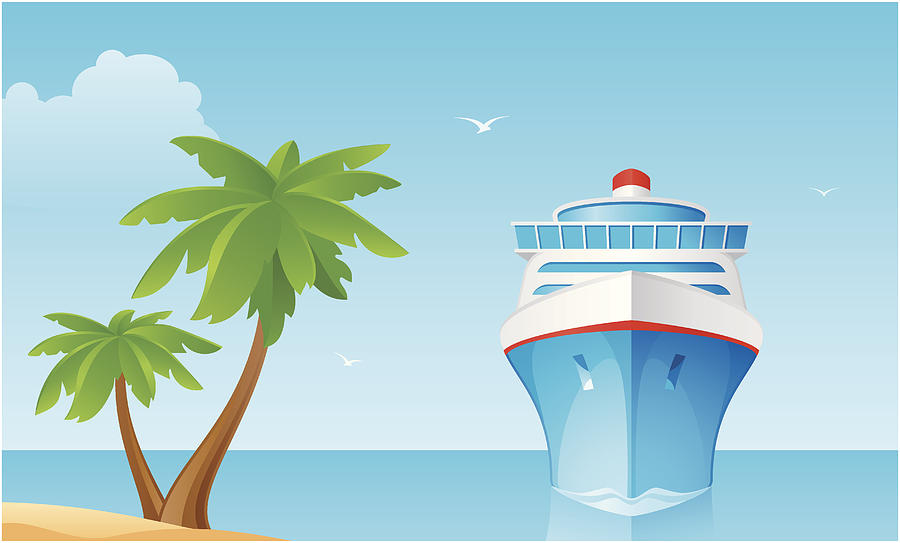 Сruise Ship Drawing by Lushik