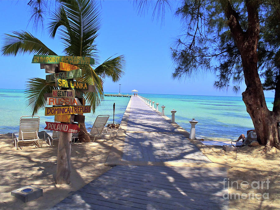 Cayman Photograph - Rum Point by Carey Chen