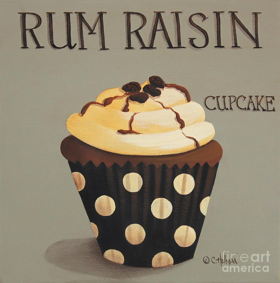 Art Painting - Rum Raisin Cupcake by Catherine Holman