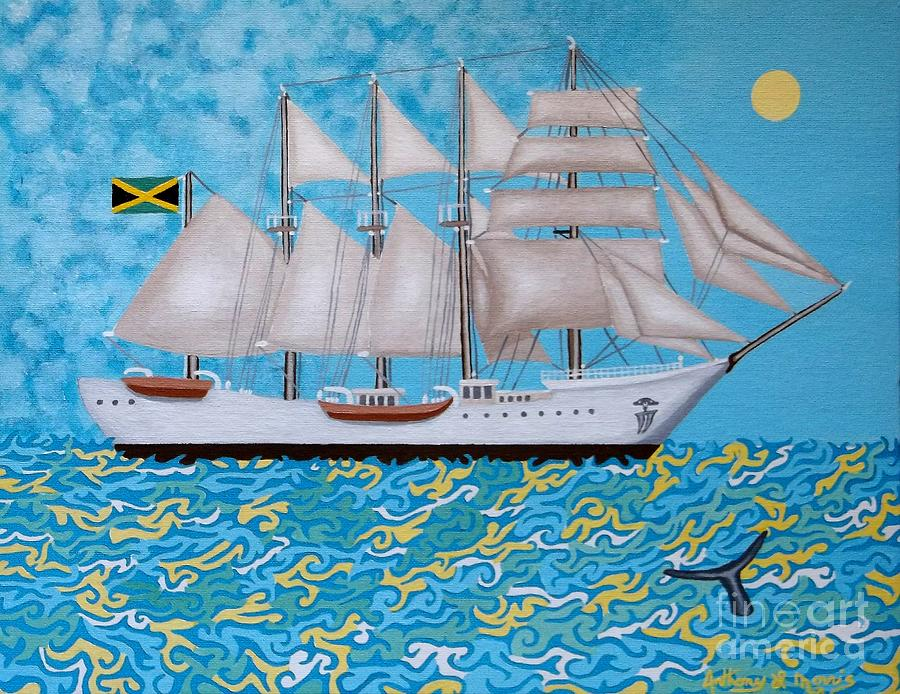 Ship Painting - Rum Runner by Anthony Morris