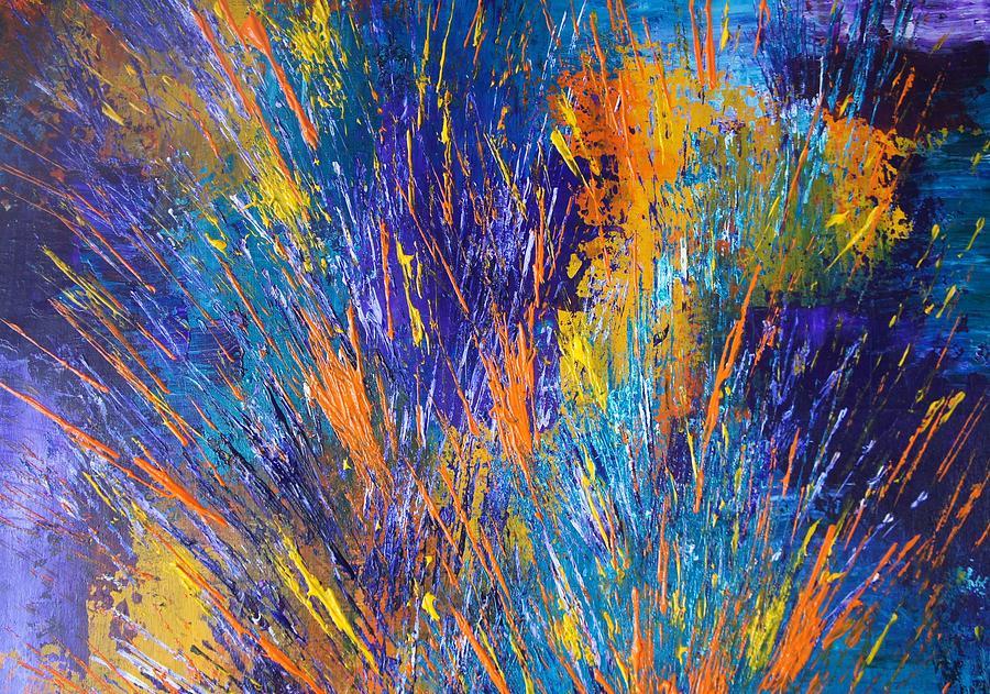 Orange Painting - Rum Ta Ka by Kristine Bogdanovich
