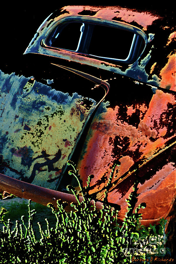 Car Photograph - Rumble Seat by Barbara D Richards