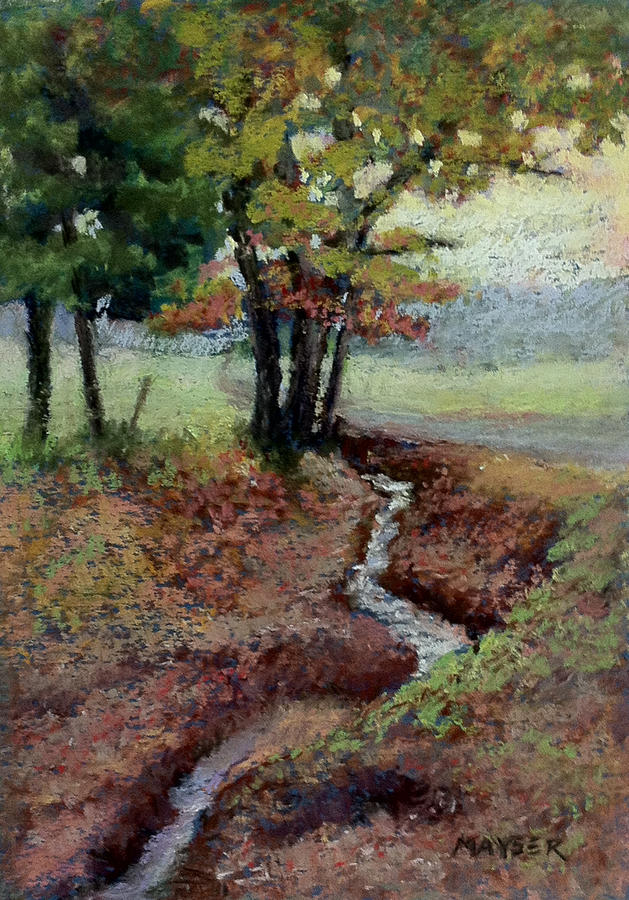 Landscape Painting - Rumor Of Autumn by Julie Mayser