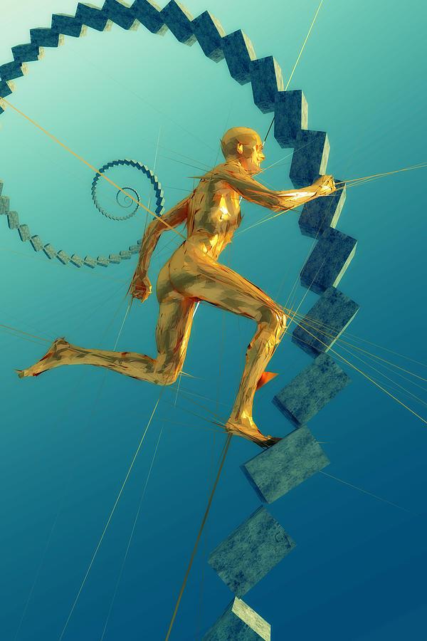 Man Digital Art - Run 051414 by Matt Lindley