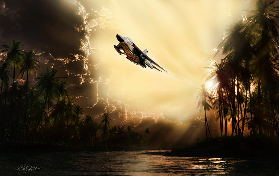 Aviation Digital Art - Run Through The Jungle by Peter Chilelli