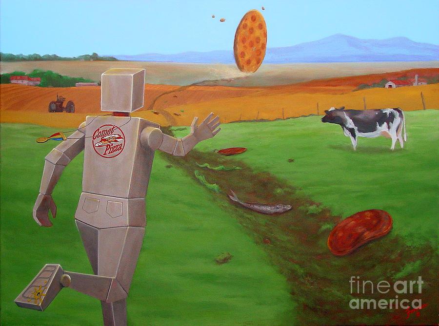 Runaway Pizza by Charles Fennen