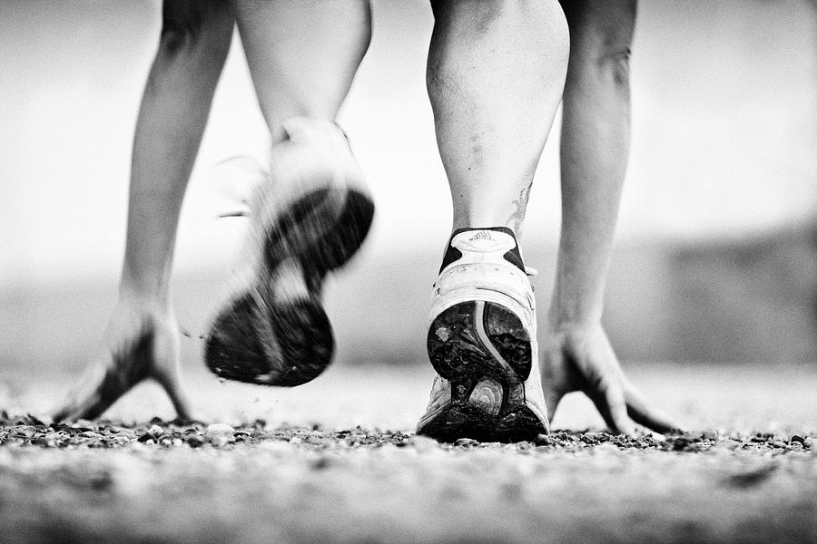 Running Photograph - Runner by Heidi Bartsch
