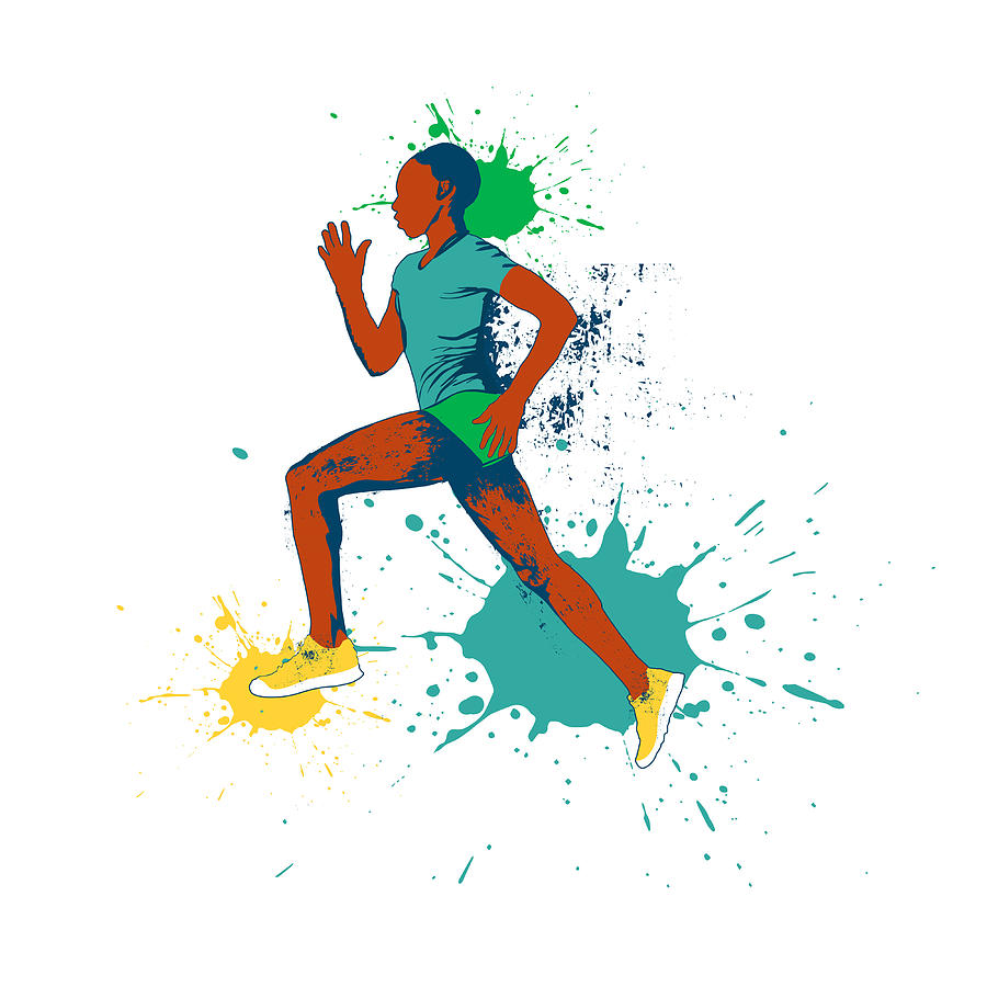 runner vector illustration painting by victoria frenkel runner vector illustration by victoria frenkel
