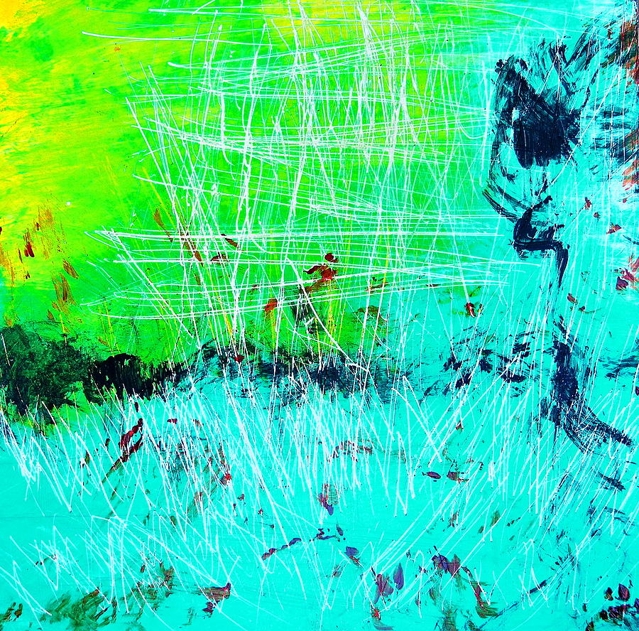Abstract Painting - Running For Her Life by Sue McElligott