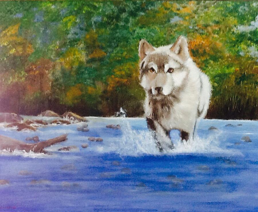 Running Free Painting by Catherine Swerediuk