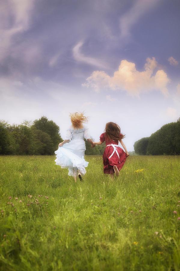 Girl Photograph - Running by Joana Kruse
