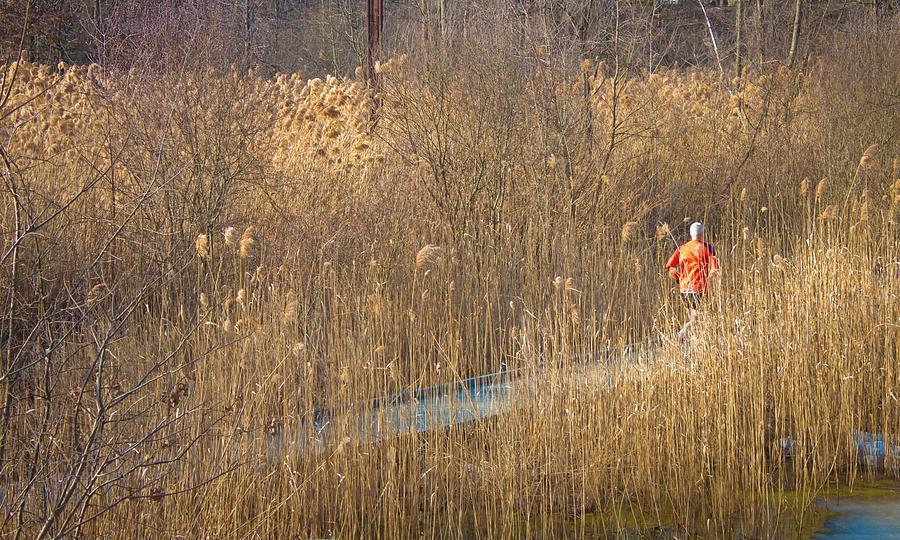 Grass Photograph - Running Man by Richie Stewart
