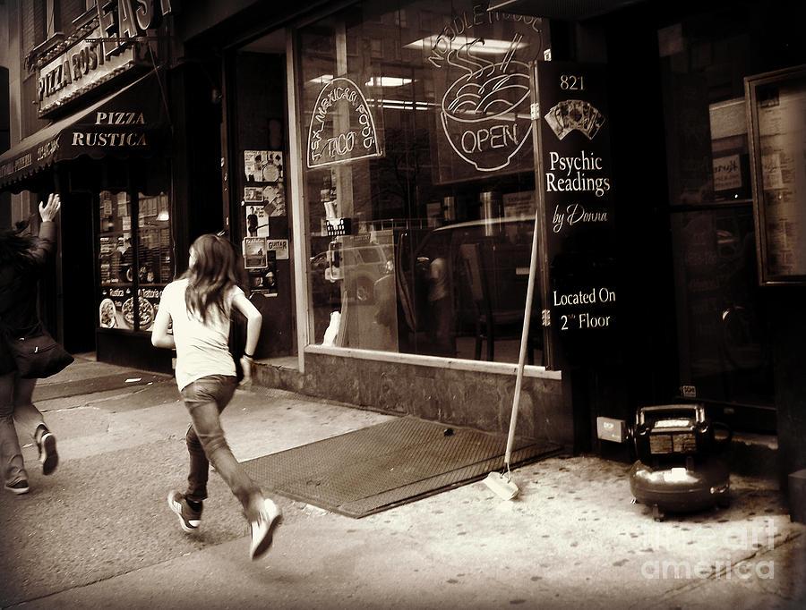 Run Photograph - Running by Miriam Danar