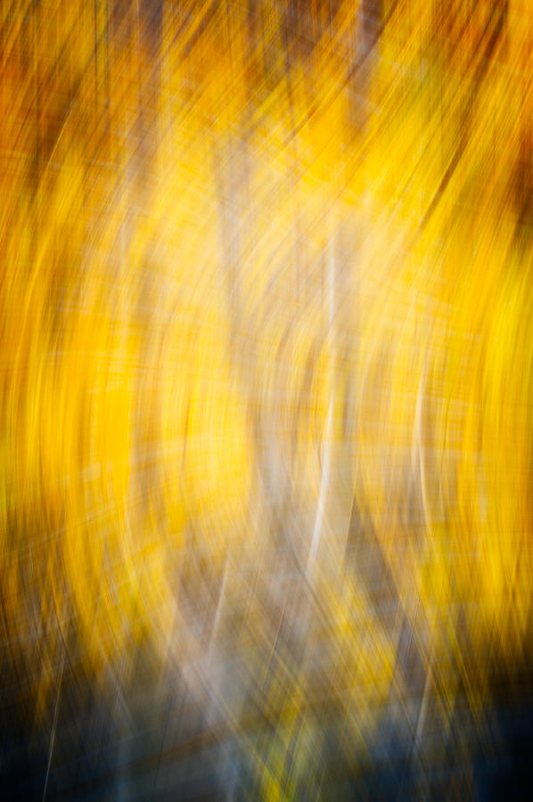 Running Naked Through A Forest Fire Abstract Photograph