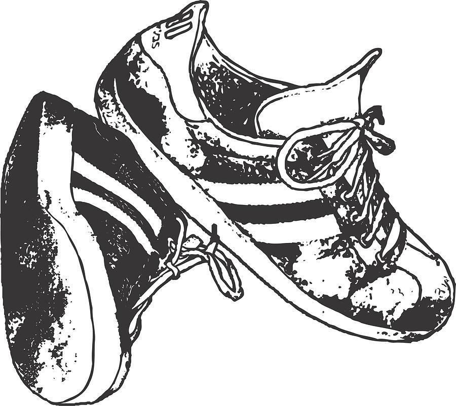 Running Shoes Vector Art