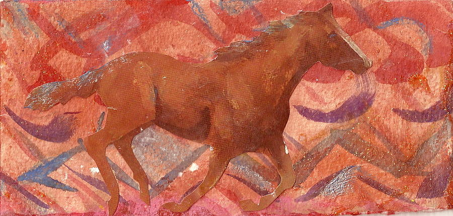 Horse Mixed Media - Running With The Wind by Anne-Elizabeth Whiteway