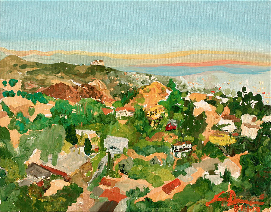 Runyon Painting - Runyon Canyon by Joseph Demaree