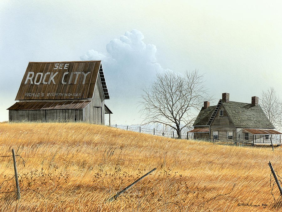 Landscapes Painting - Rural America by Mike Brown