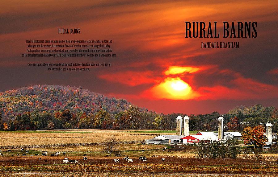 Bank Barn Photograph - Rural Barns  My Book Cover by Randall Branham