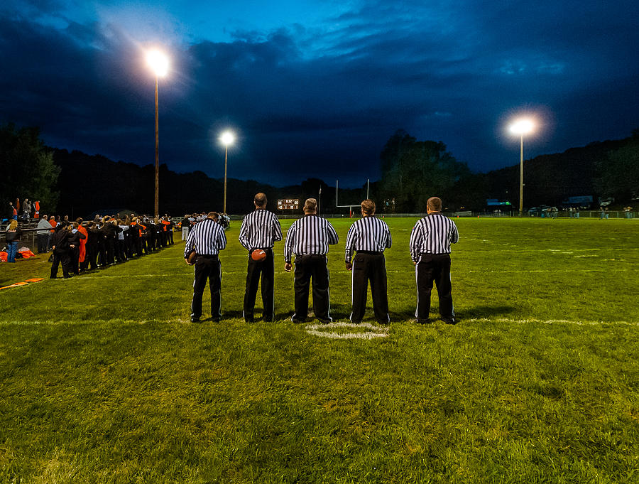 Football Photograph - Rural Friday Night Lights by Michael Weaver