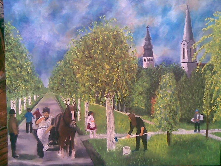 Rural Idyll Painting by Lazar Caran